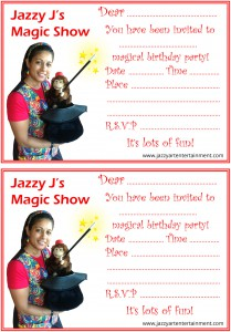 Magic Party Invitations 2 per page