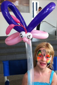 Face painting and balloon twisting for parties